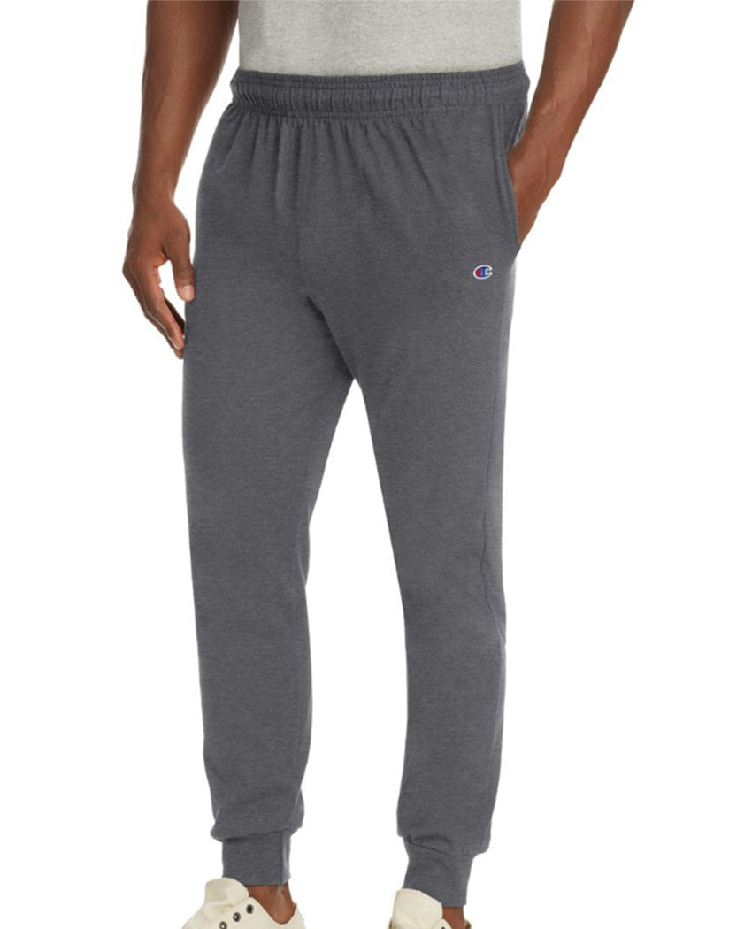 Granite Heather Front Champion Mens Jersey Jogger