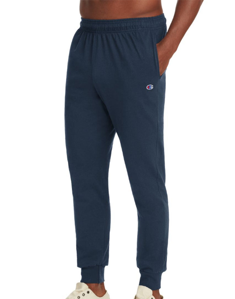 Navy Front Champion Mens Jersey Jogger