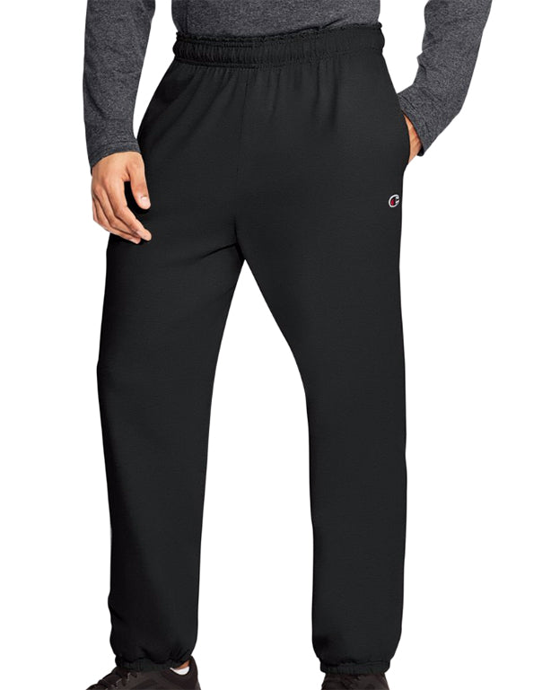 Champion Mens Champion Authentic Mens Closed Bottom Jersey Pants Black S 078715159979