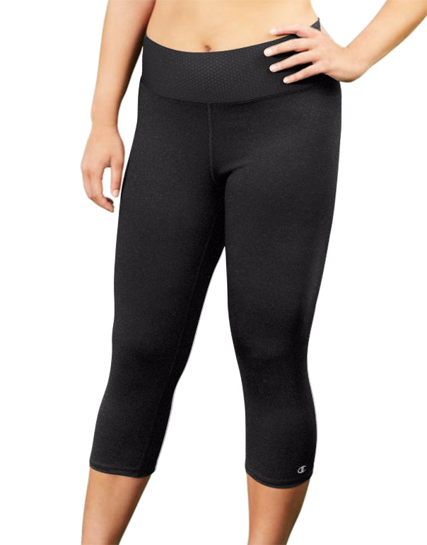 Champion Womens Plus Absolute Capris With SmoothTec Black 1X 090563122127