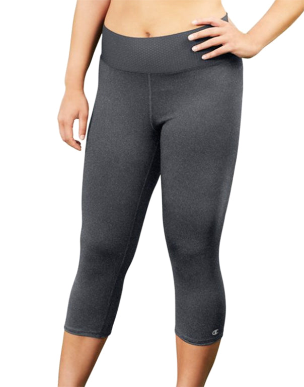 Champion Womens Plus Absolute Capris With SmoothTec Granite Heather 3X 090563464364