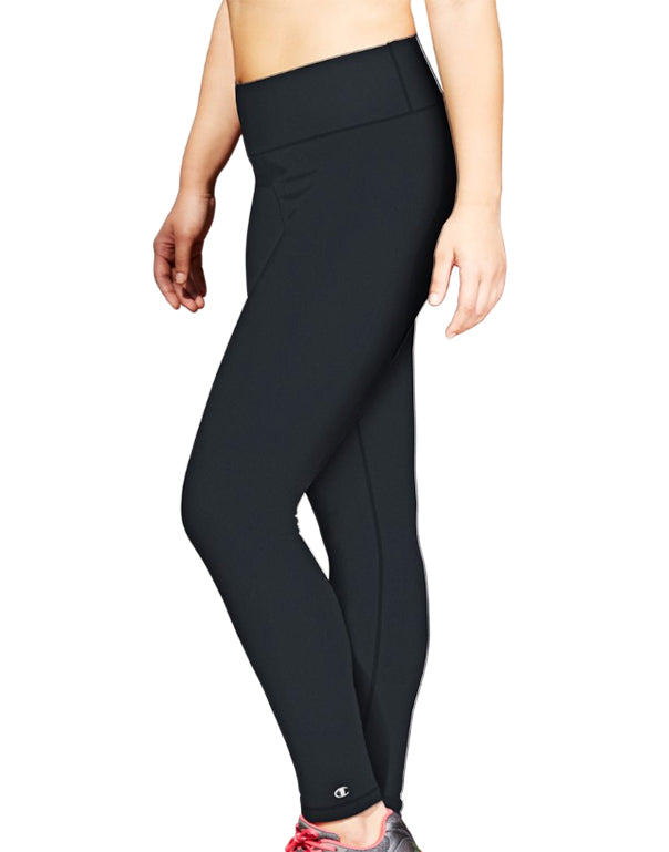 Black Front Champion Womens Plus Absolute Tights with SmoothTec