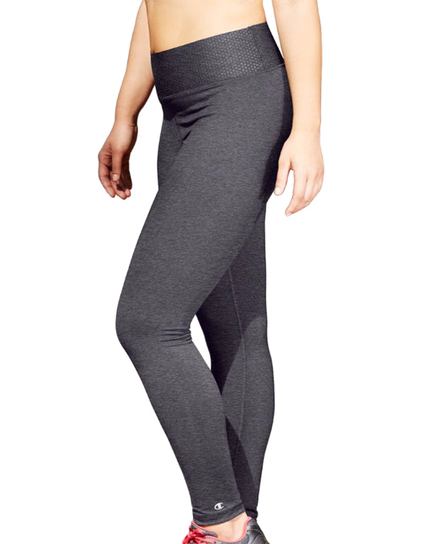Granite Heather Front Champion Womens Plus Absolute Tights with SmoothTec