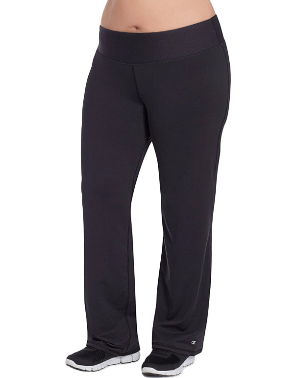 Black Front Champion Womens Plus Absolute Semi-Fit Pants with SmoothTec