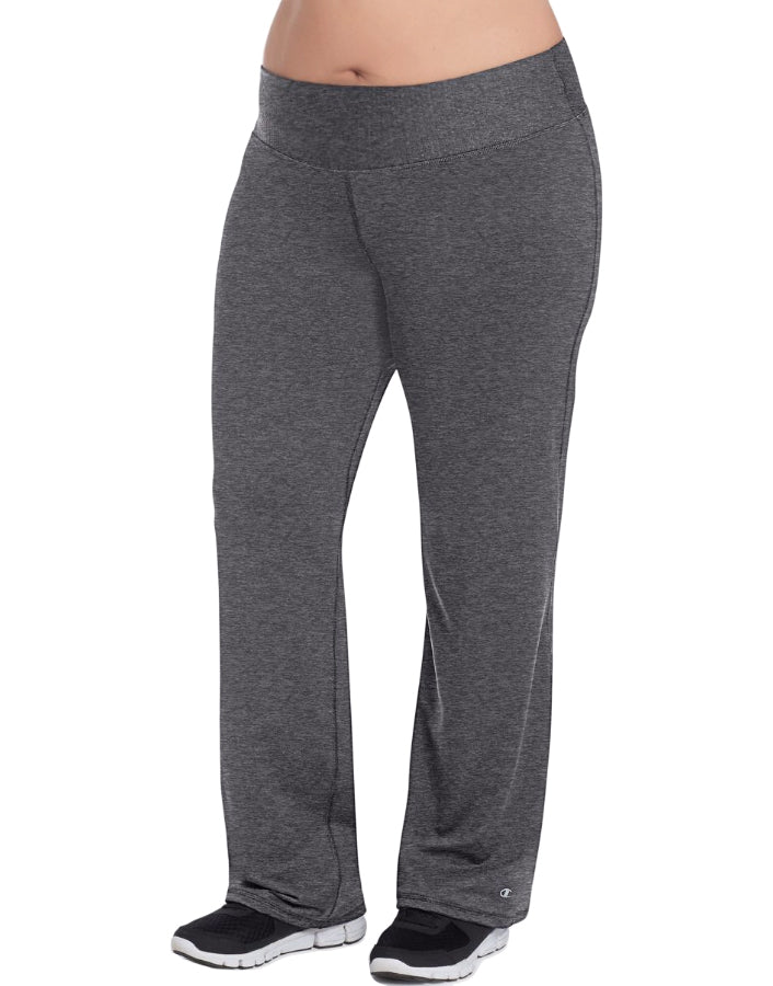 Champion Womens  Plus Absolute Semi-Fit Pants with SmoothTec Granite Heather 1X 090563834471