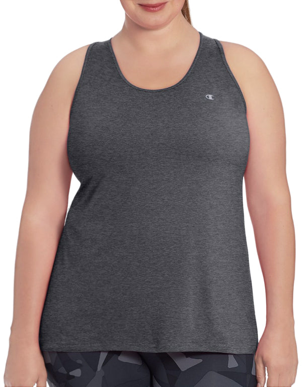 Champion Womens Plus Absolute Stretch Tank Granite Heather 2X 090563124152