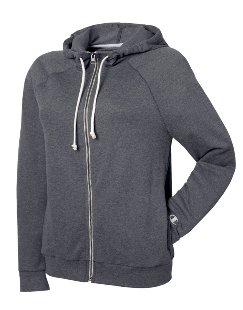 Granite Heather Front Champion Women Plus French Terry Full Zip Hoodie QW1237