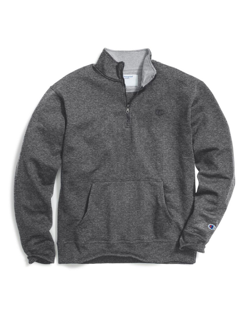 Granite Heather Front Champion Mens Powerblendå¨ Fleece 1/4 Zip Pullover S0896 407D55