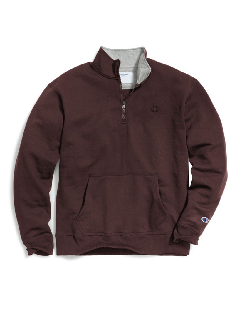 Maroon Front Champion Mens Powerblendå¨ Fleece 1/4 Zip Pullover S0896 407D55
