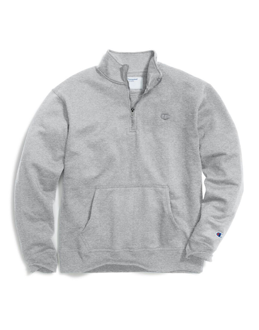 Oxford Grey Front Champion Mens Powerblendå¨ Fleece 1/4 Zip Pullover S0896 407D55