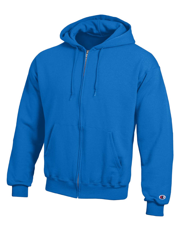 Champion Mens Champion Double Dry Action Fleece Full Zip Hood Royal Blue M 011919799190