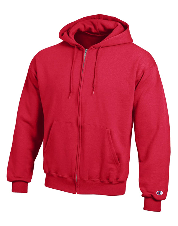 Champion Mens Champion Double Dry Action Fleece Full Zip Hood Scarlet L 011919799268