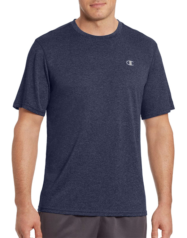 Champion Mens Champion Vapor Men's Heather Tee Navy Heather S 078715943462