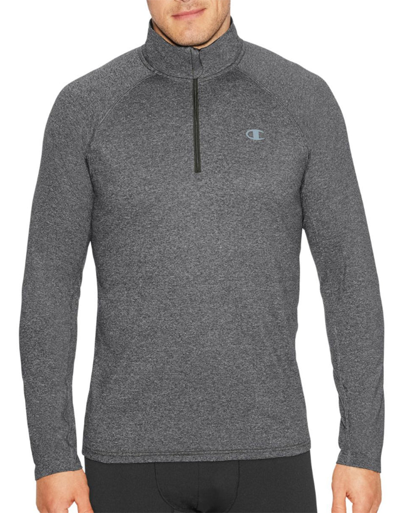 Granite Heather Front Champion Mens Cold Weather Quarter Zip T31126