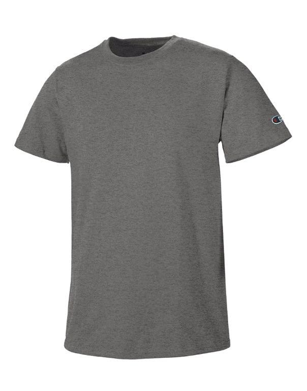 Charcoal Heather Front Basic Tee