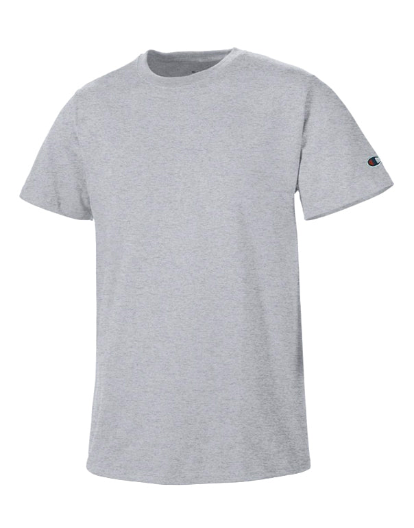 Grey Oxford Heather Front Basic Tee