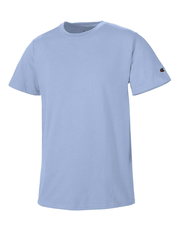 Champion Mens Champion Basic Tee Light Blue L 011919033041