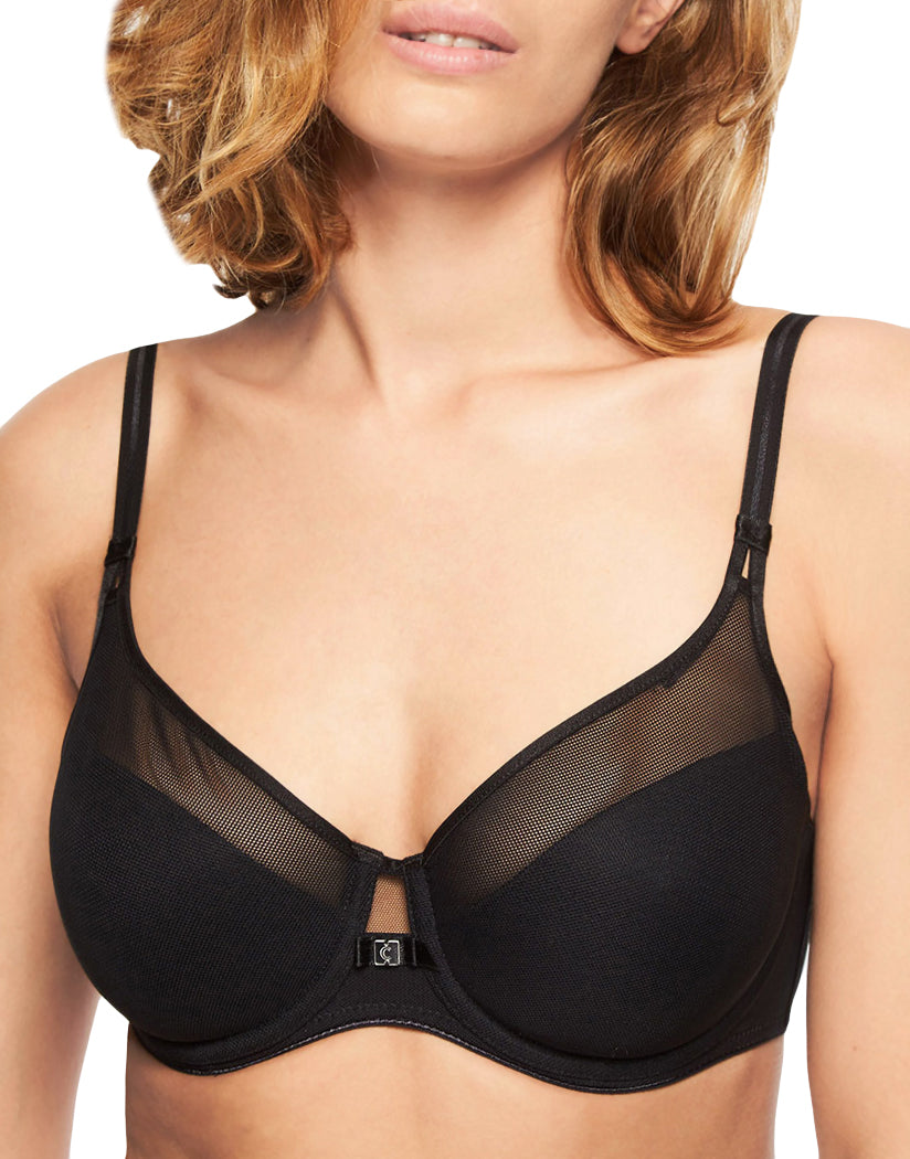 Black Front Chantelle Aria Lightweight Convertible Bra