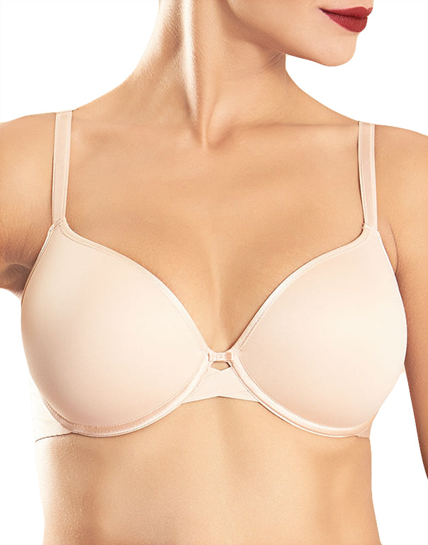 Nude Blush Front Modern Invisible Smooth Custom Fit Plunge Bra