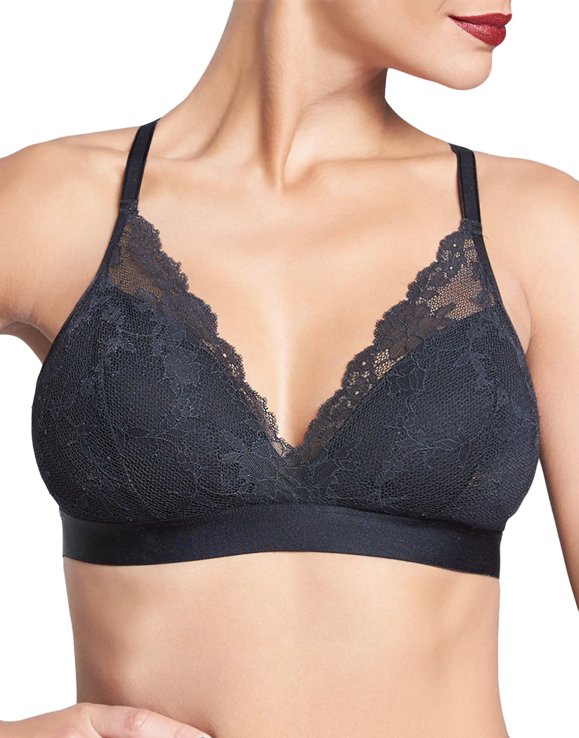 Black Front Chantelle Everyday Lace Bralette