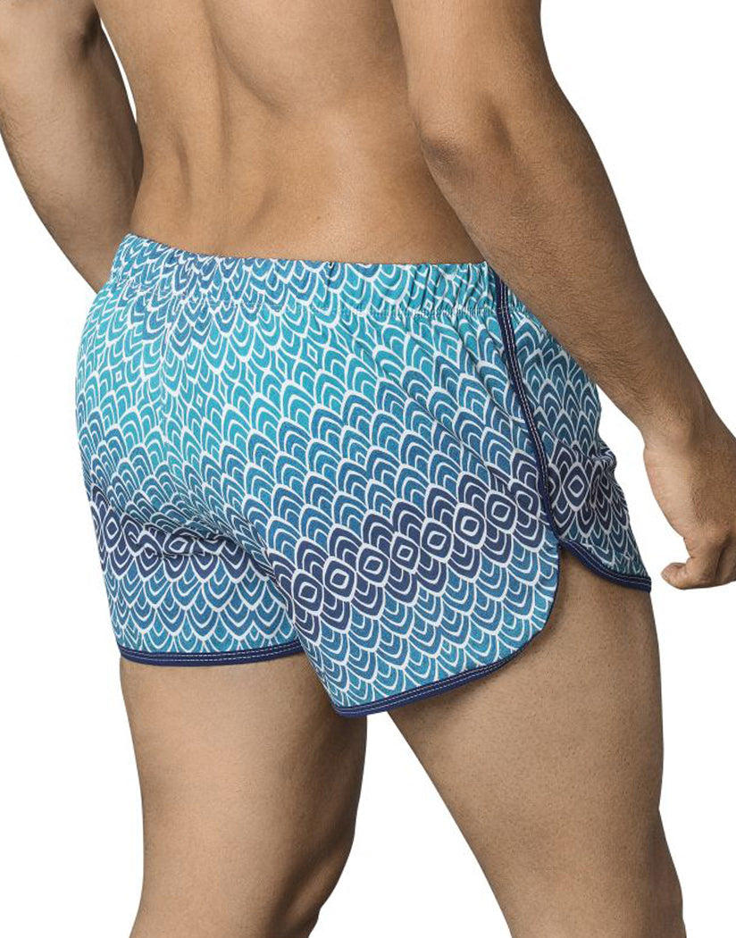 Blue Back Clever Mask Swim Trunk