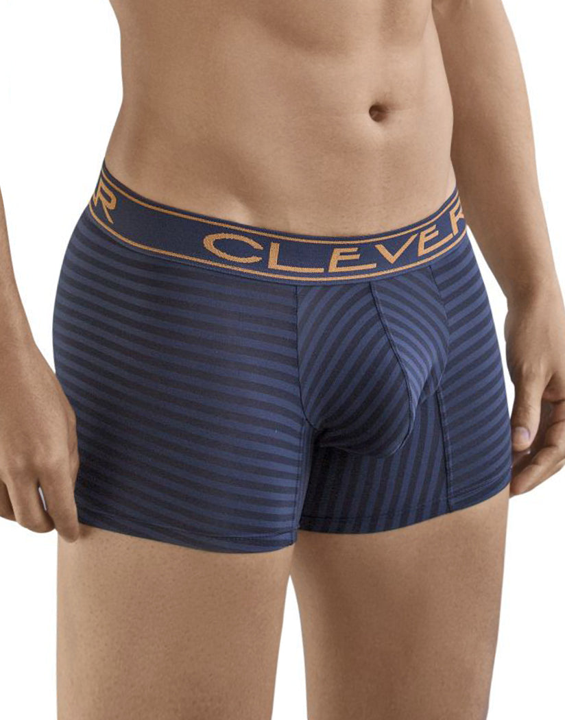 Dark Blue Front Clever Sensation Boxer Brief Dark Blue 2364
