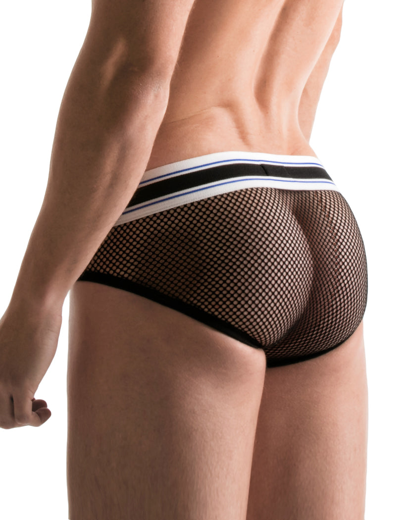 Black Back Code 22 Stretch Mesh Brief