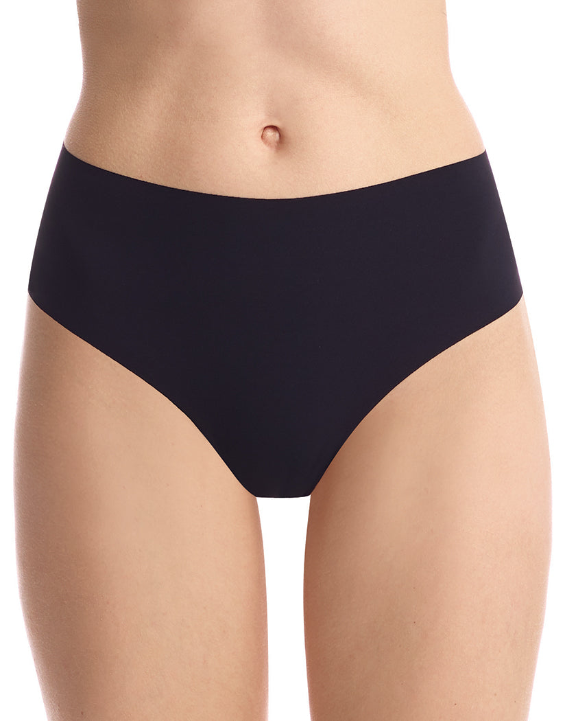 Black Front Commando Classic High Rise Thong HRT01