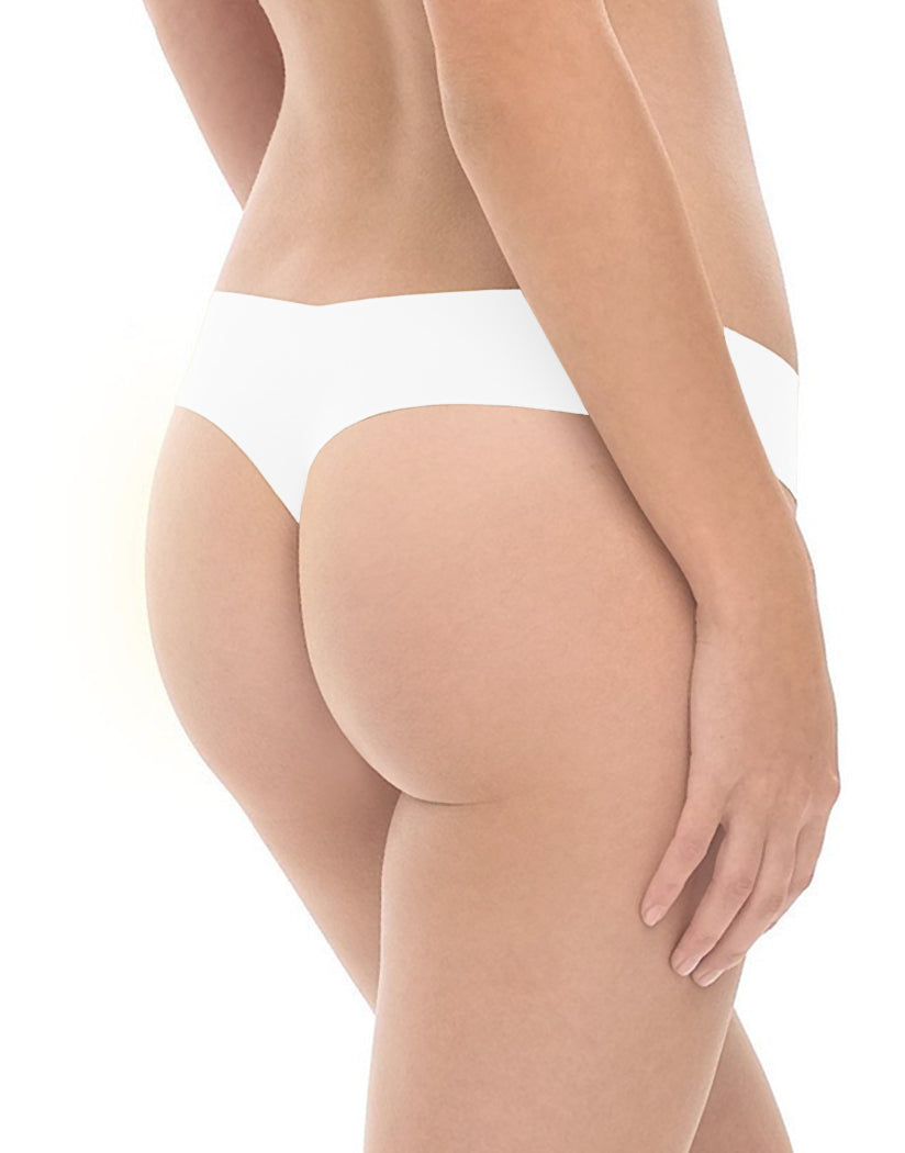 White Back Commando Classic Thong