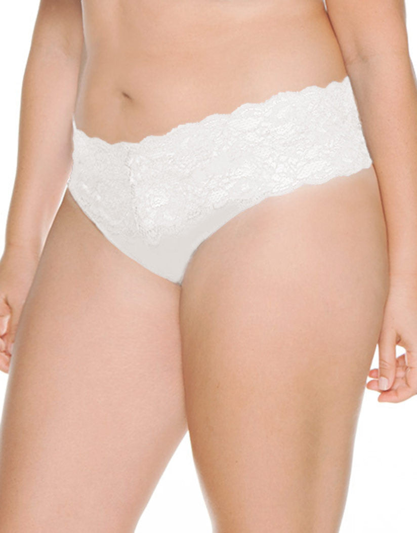 White Front Cosabella Never Say Never Lovelie Thong Plus Size