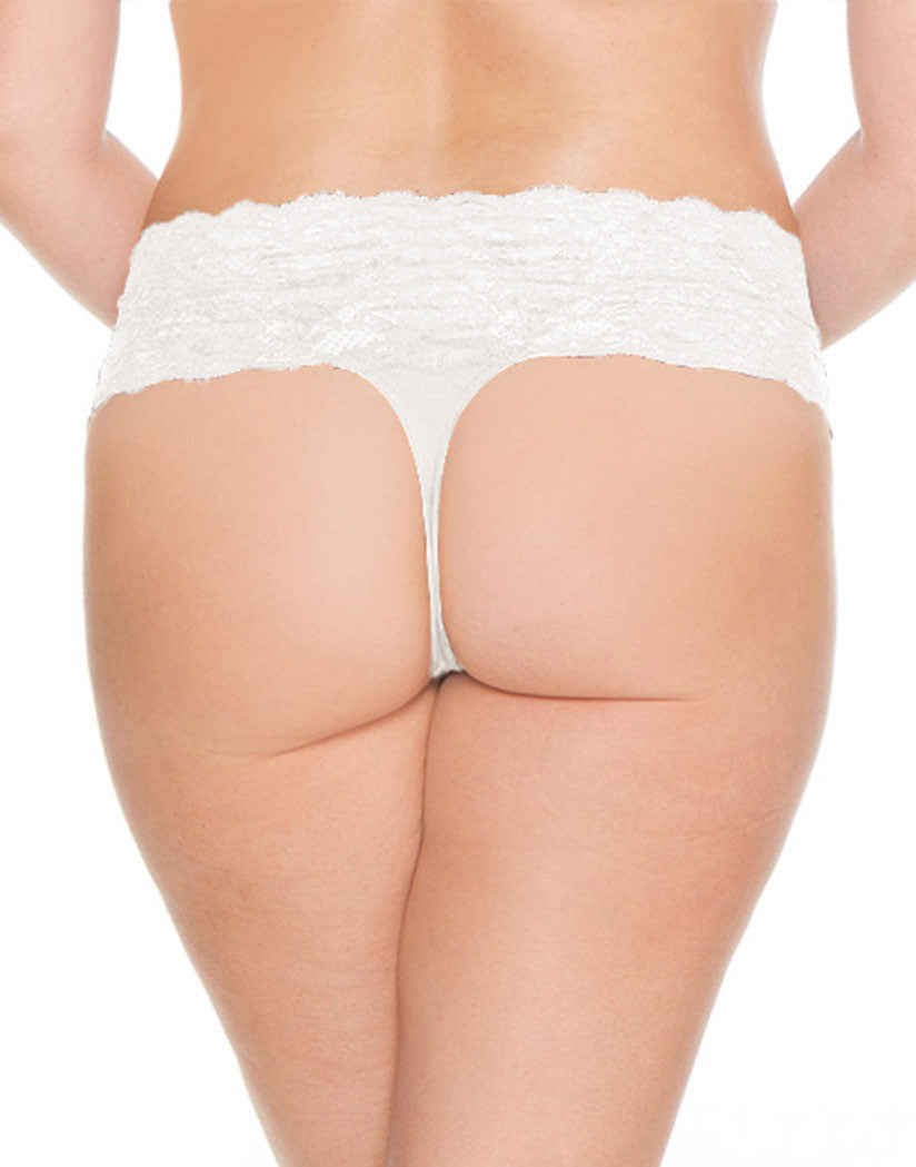 White Back Cosabella Never Say Never Lovelie Thong Plus Size