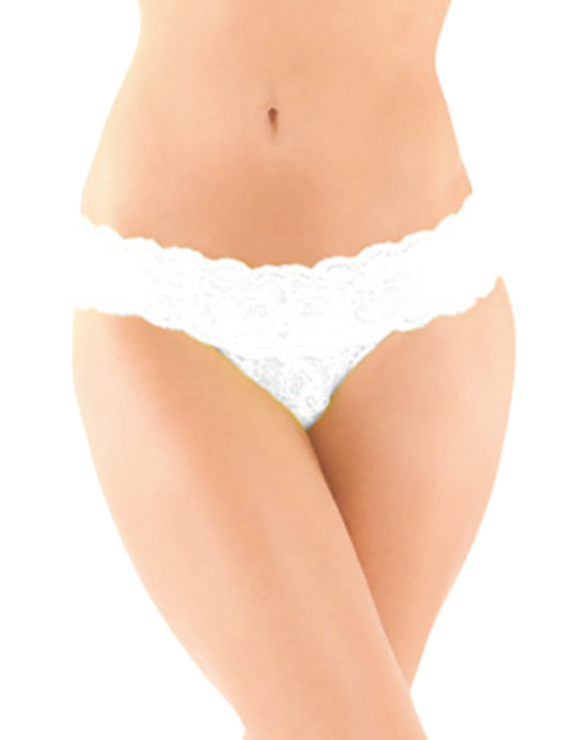 White Front Cosabella Never Say Never Cutie Thong NEVER03ZLBOW
