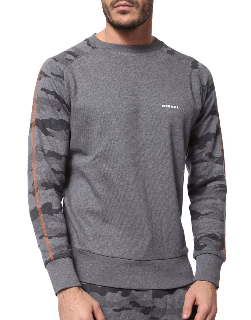 Grey Camo Front Casey Sweat Shirt