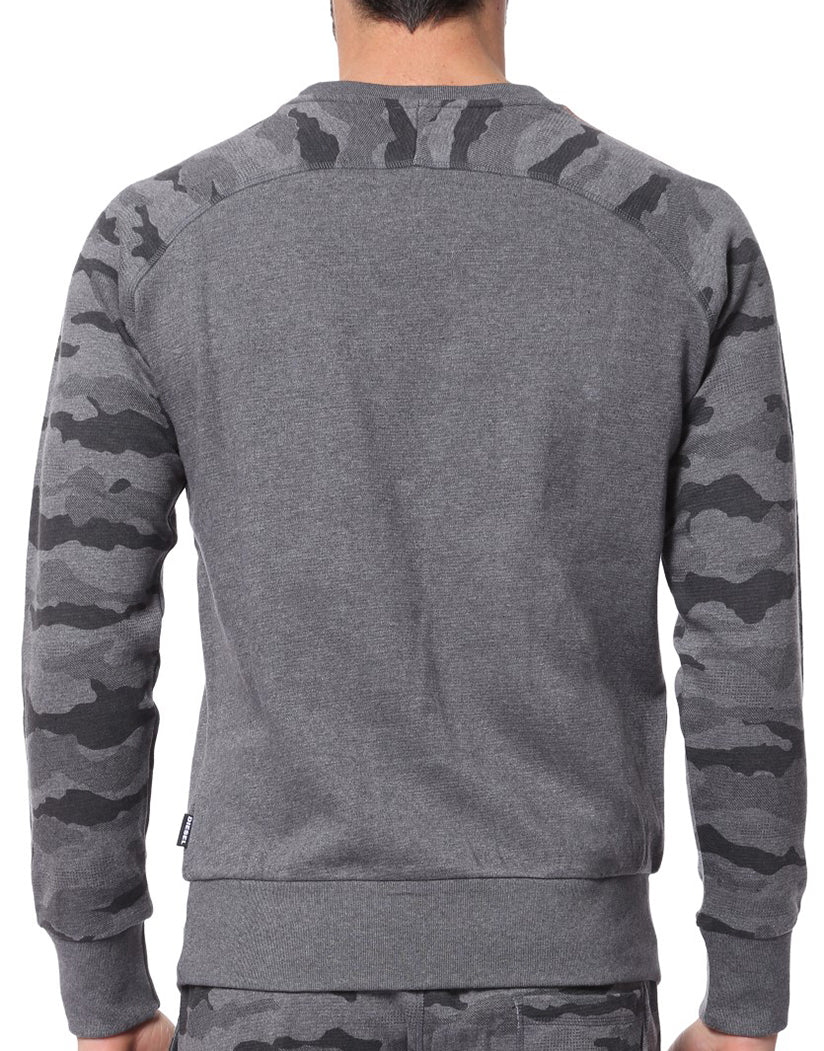 Grey Camo Back Casey Sweat Shirt