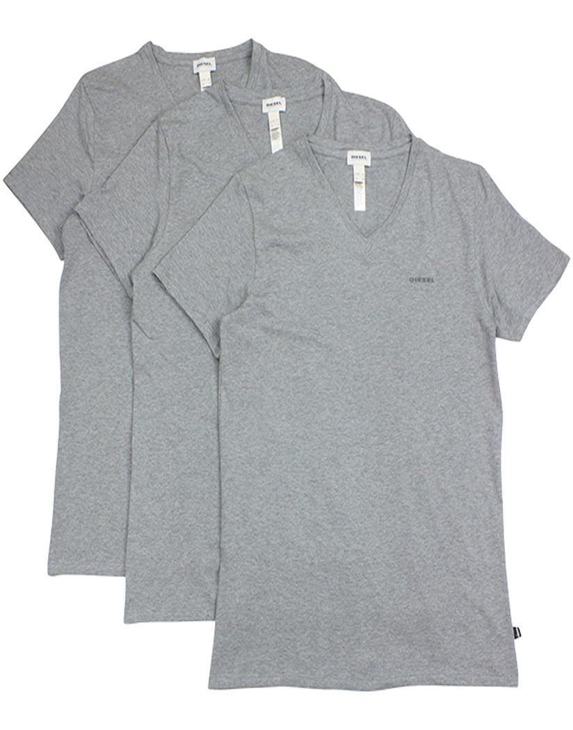 Medium Grey Front Diesel Michael 3-Pack V Neck T