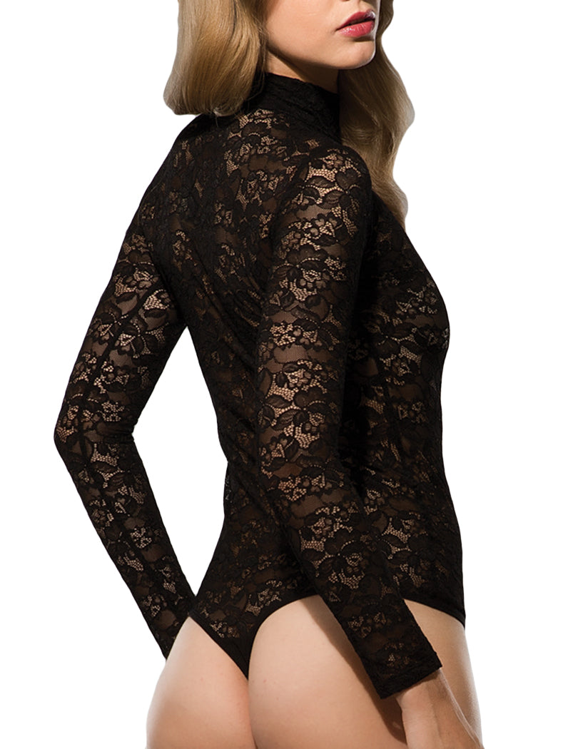 Black Back All Over Lace Avantgarde Bodysuit