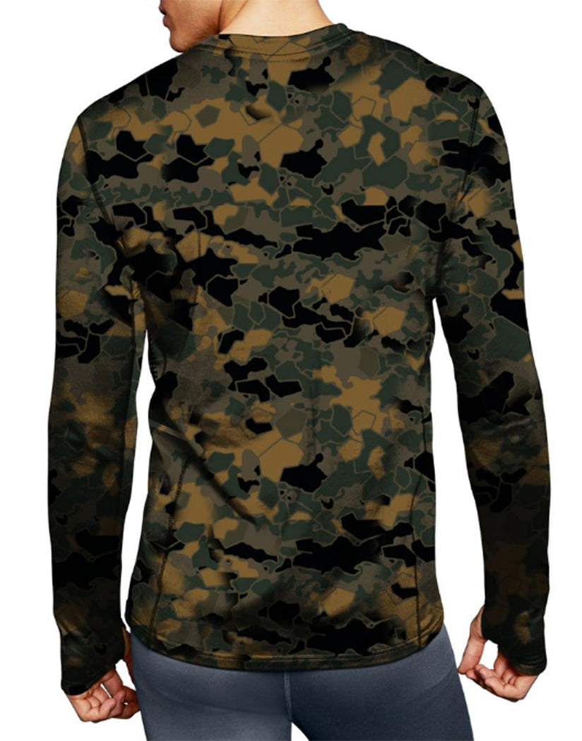Tawney Brown Faster Asteroid Camo Back Duofold by Champion Brushed Back Mens Crew Prints