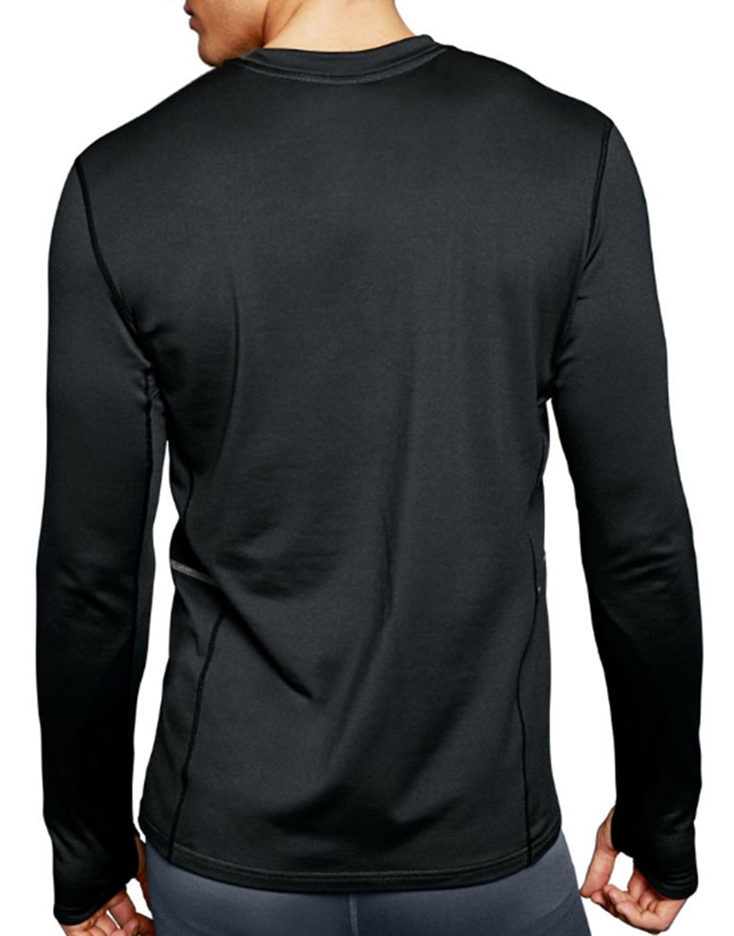 Black Back Duofold by Champion Brushed Back Mens Crew KCB1