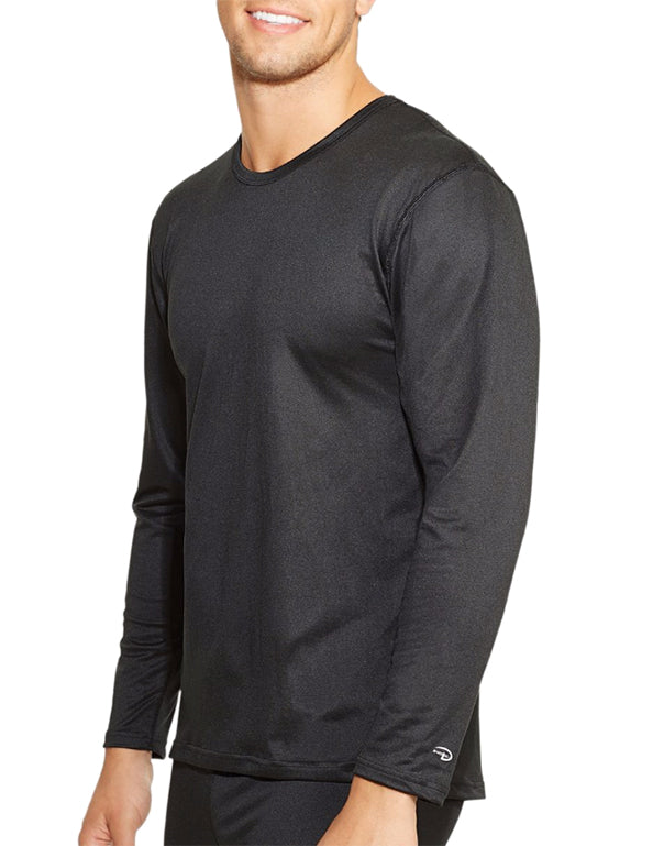 Black Front Duofold by Champion Varitherm Mens Long-Sleeve Thermal Shirt KMC1