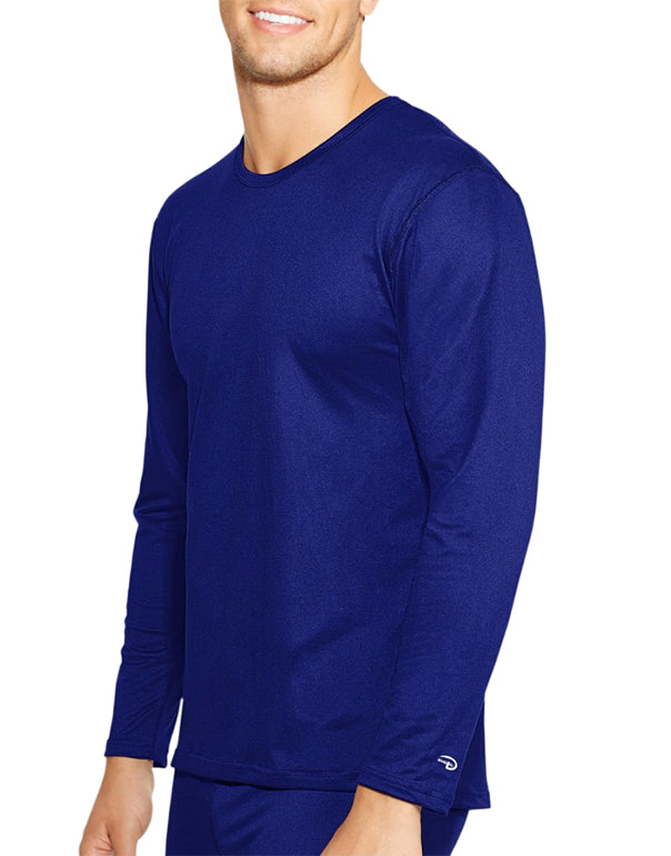 Duofold Men Duofold by Champion Varitherm Mens Long-Sleeve Thermal Shirt Ultra Marine S 078715614997