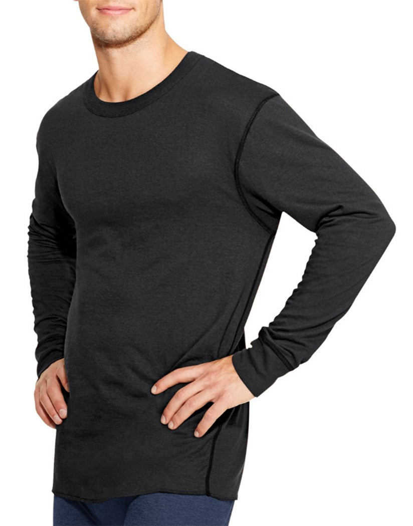 Black Front Duofold by Champion Thermals Men's Long-Sleeve Base-Layer Shirt KMW1