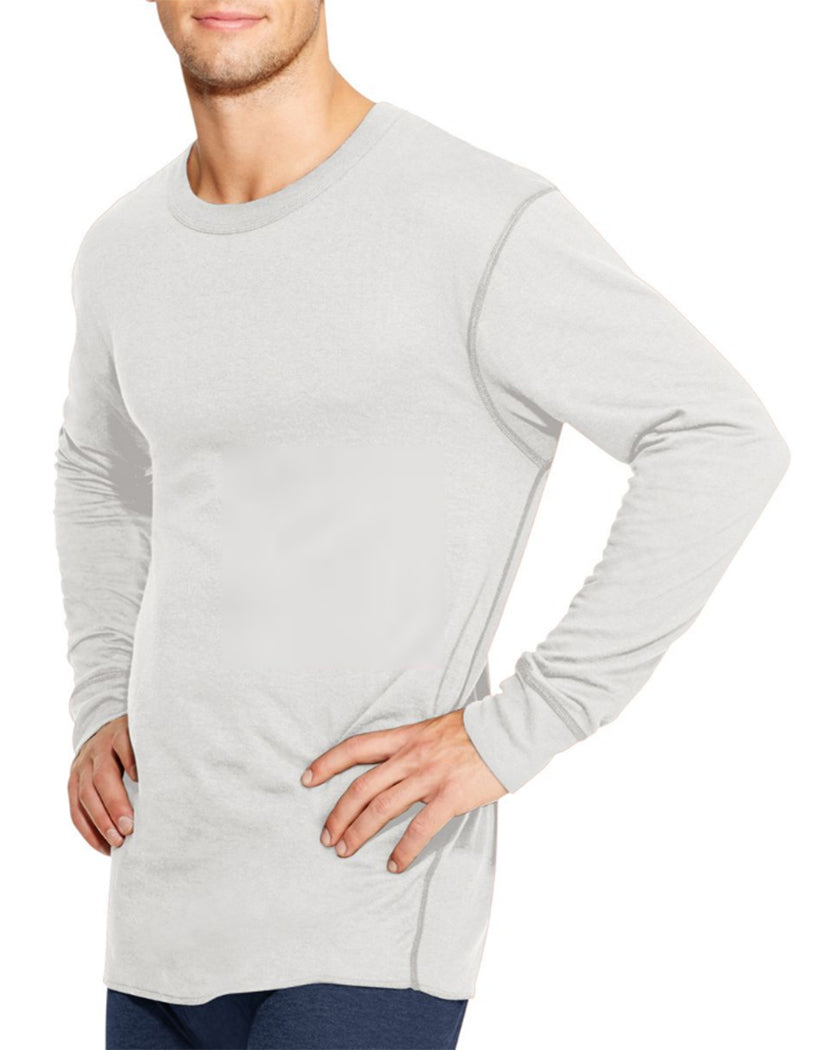 Winter White Front Duofold by Champion Thermals Men's Long-Sleeve Base-Layer Shirt KMW1