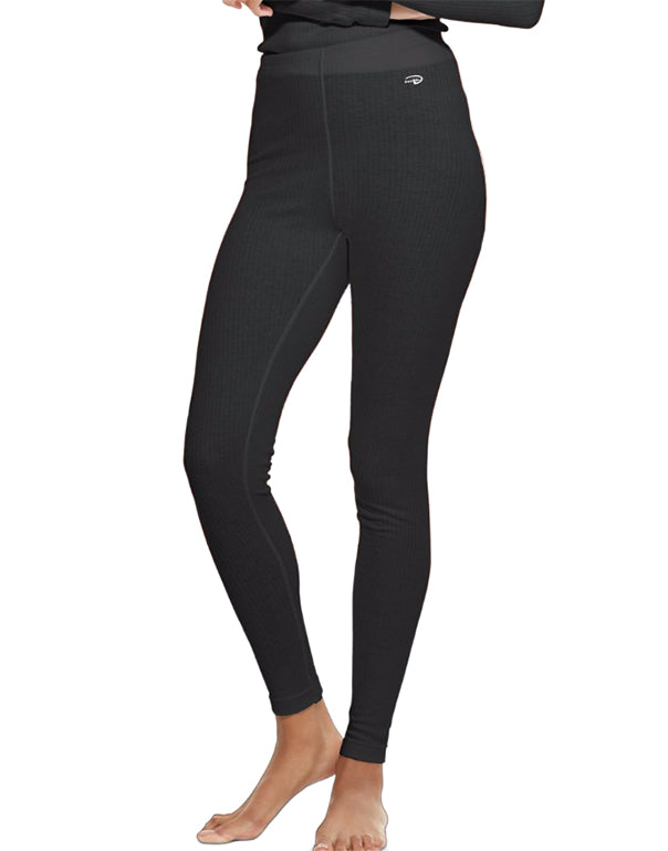 Black Front Duofold by Champion Thermals Womens Base-Layer Underwear