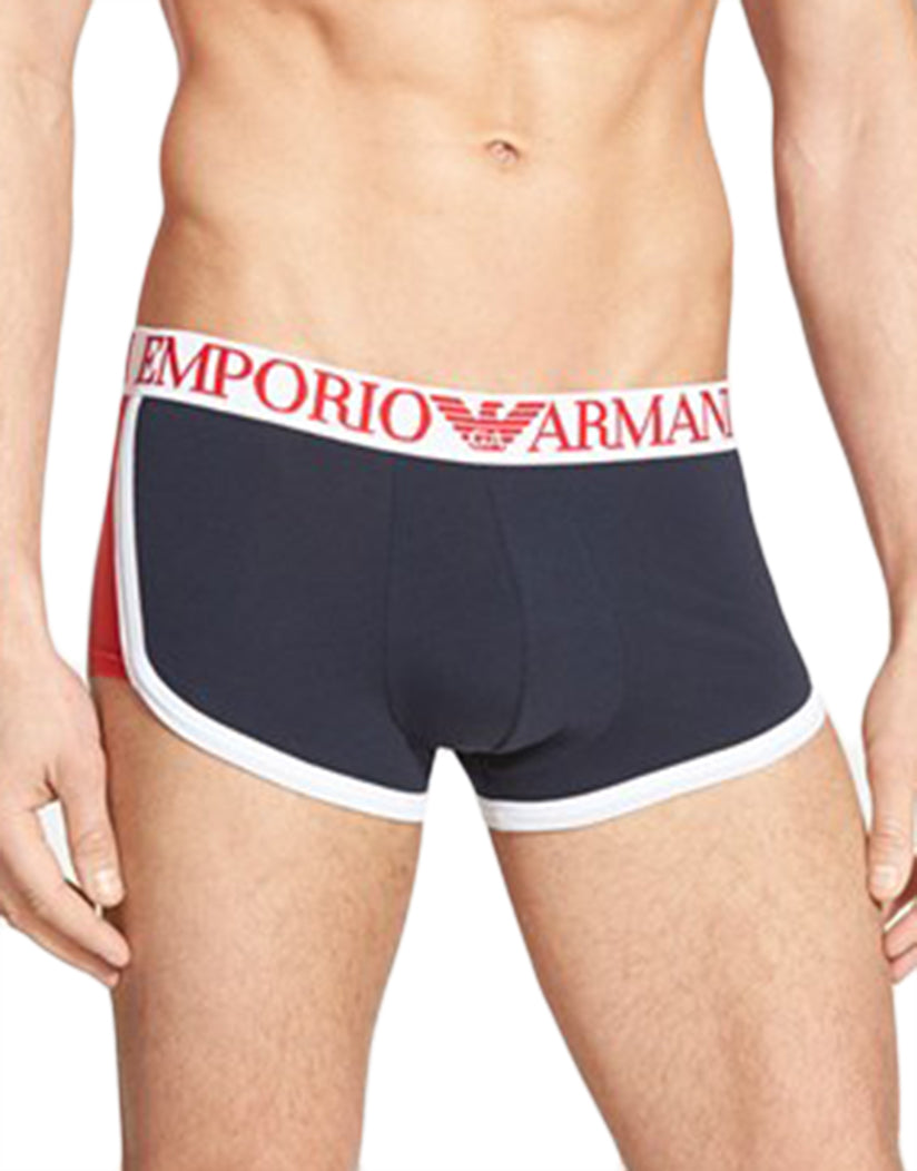 Blue Front Emporio Armani Colorblock Trunks