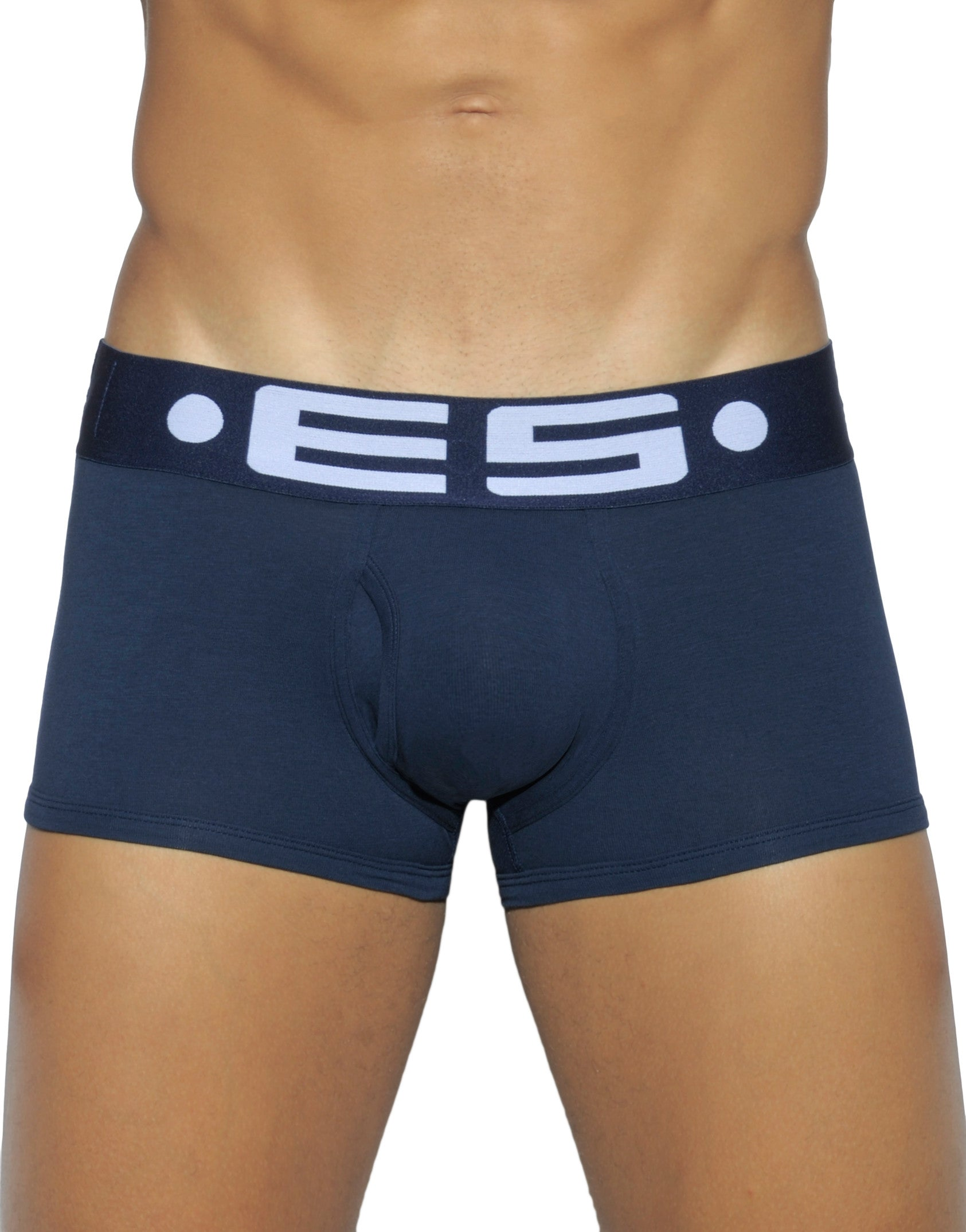Navy Front Large Logo Cotton Boxer Short