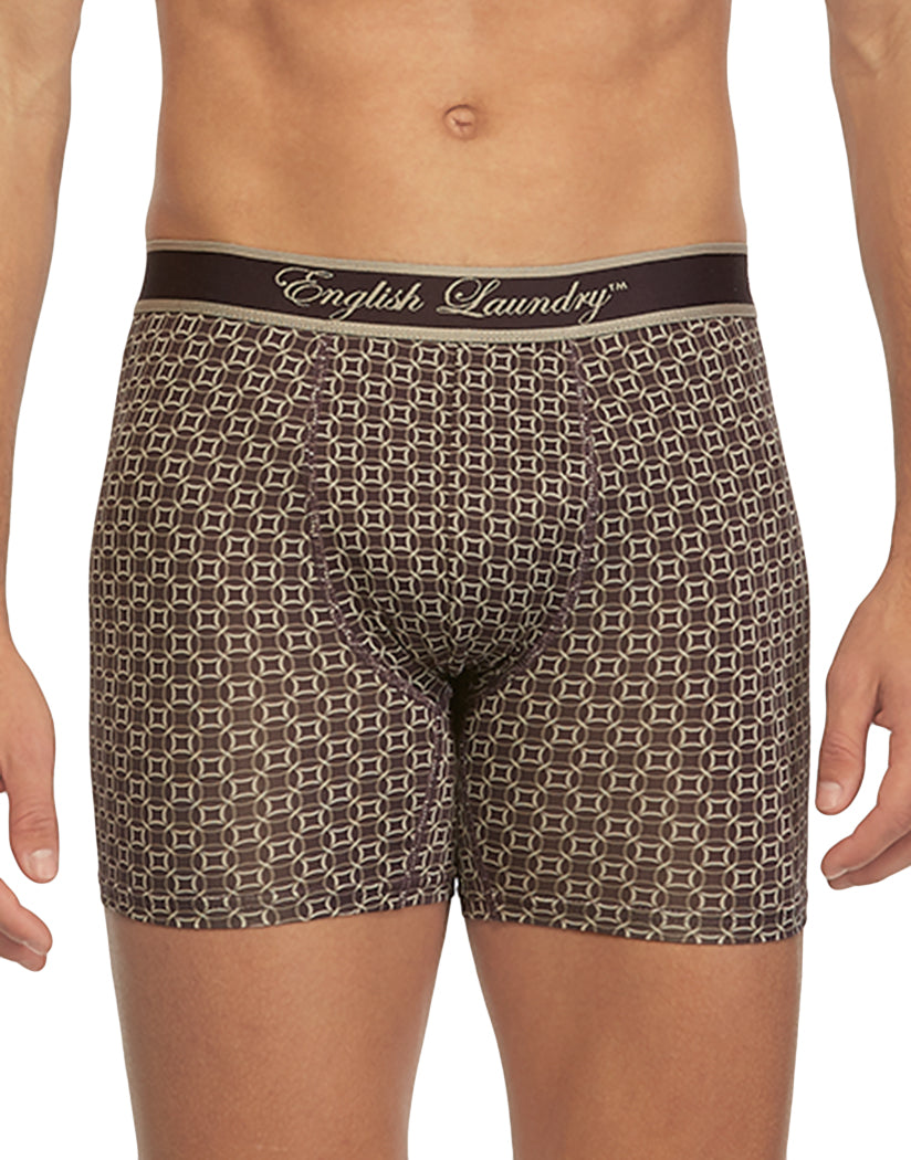 Nightshade Circles Front English Laundry Poly Stretch Boxer Brief Night Shade Circles