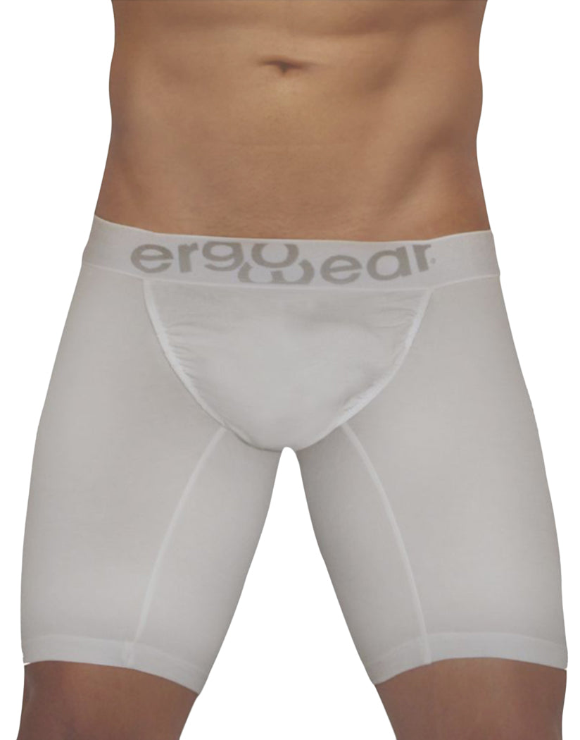 White Front ErgoWear FEEL Modal Long Boxer Brief