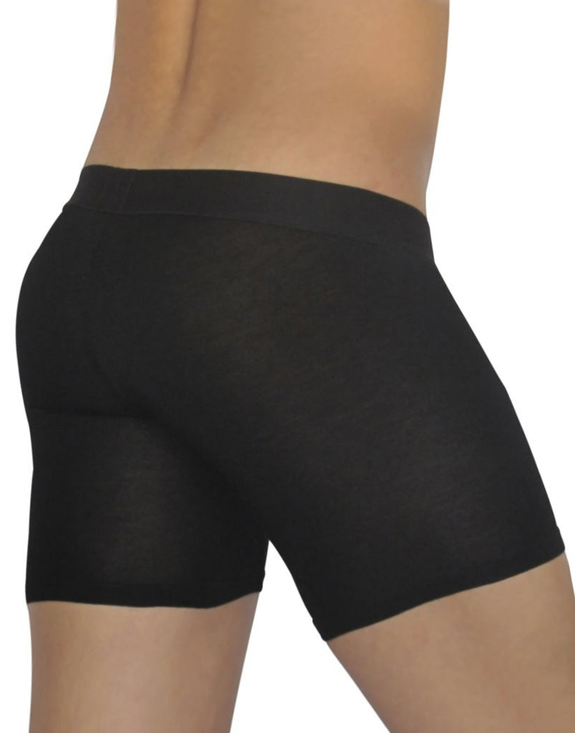 Black Back ErgoWear FEEL Modal Long Boxer Brief