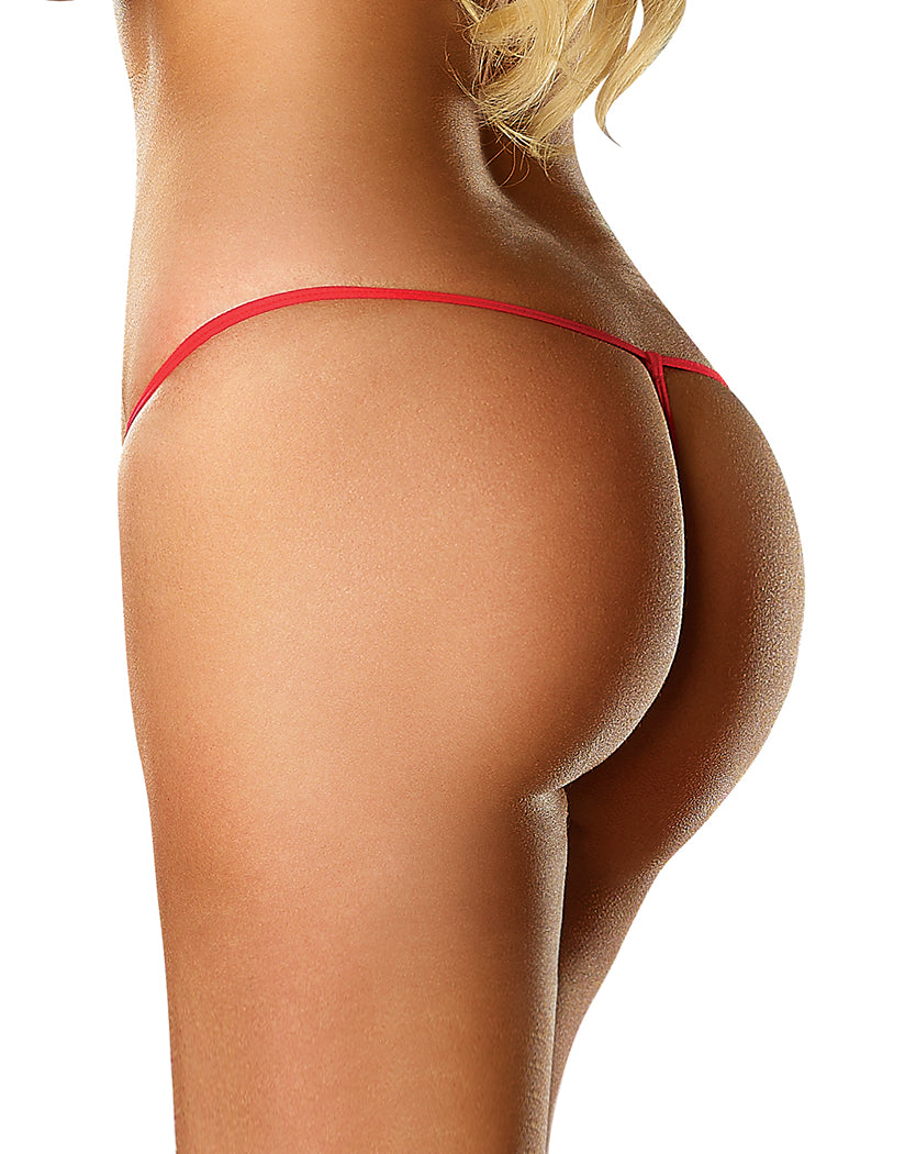 Red Back Exposed Lace G-String Queen Size G808