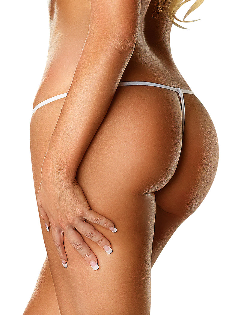 White Back Exposed Lace G-String Queen Size G808